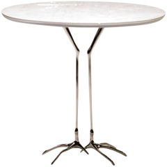 "White Gold ""Traccia"" Table by Meret Oppenheim"