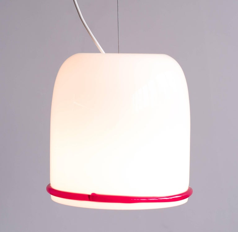 Late 20th Century Large Glass Pendant Designed by Ettore Sottsass for Vistosi For Sale