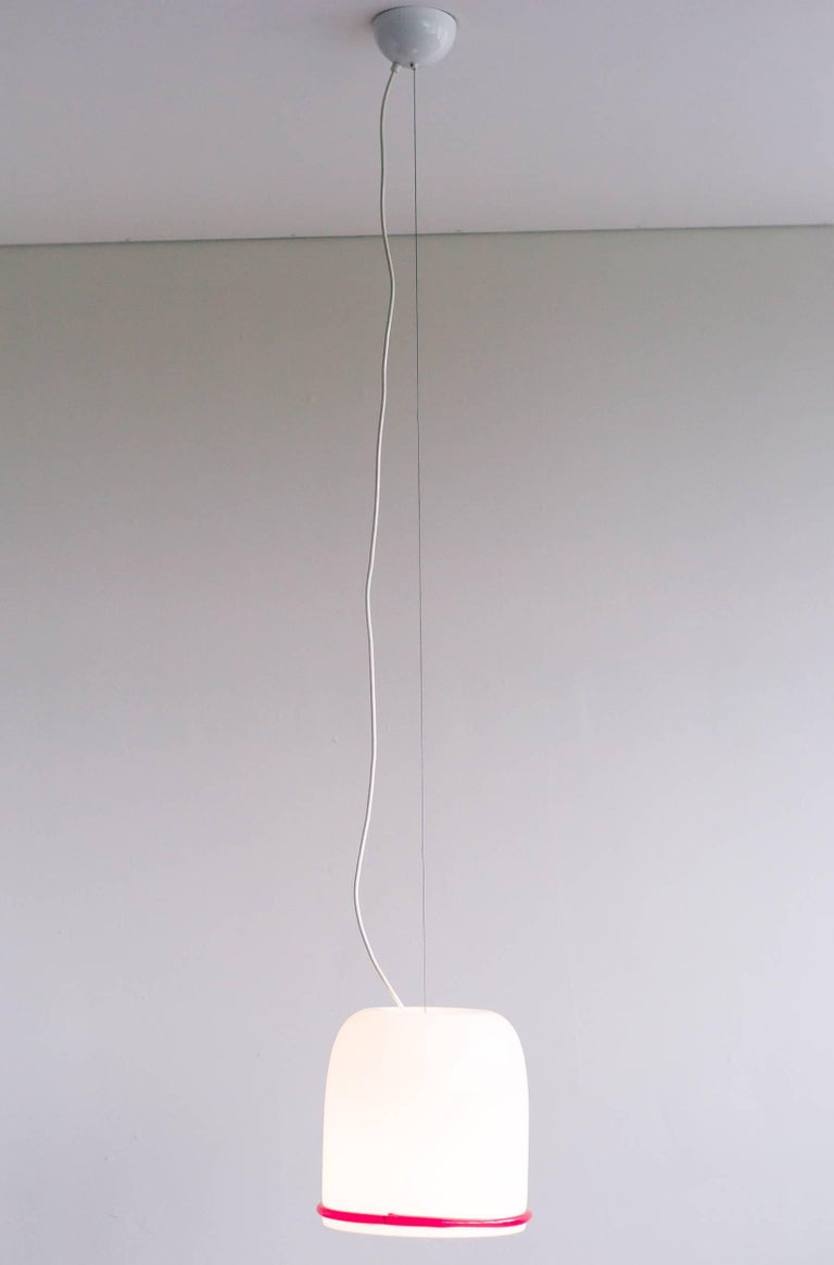 Large Glass Pendant Designed by Ettore Sottsass for Vistosi In Excellent Condition For Sale In Dronten, NL