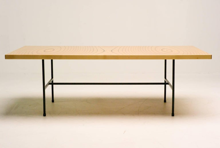 Finnish Laminated Plywood Low Table by Tapio Wirkkala for Asko For Sale