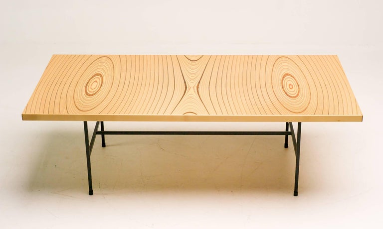 Laminated Plywood Low Table by Tapio Wirkkala for Asko In Excellent Condition For Sale In Dronten, NL