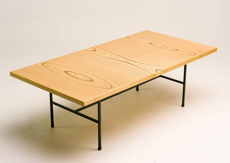 Limited edition coffee table by Tapio Wirkkala, marked with engraved bronze plaque: Tapio Wirkkala, Asko, made in Finland, 1960.