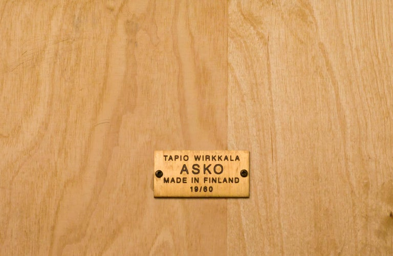 Enameled Laminated Plywood Low Table by Tapio Wirkkala for Asko For Sale