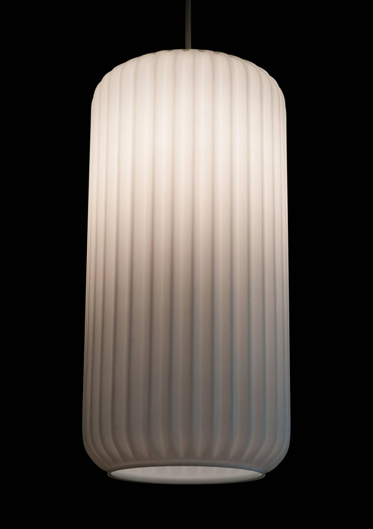 Mid-Century Modern Large Architectural Italian Glass Pendant For Sale