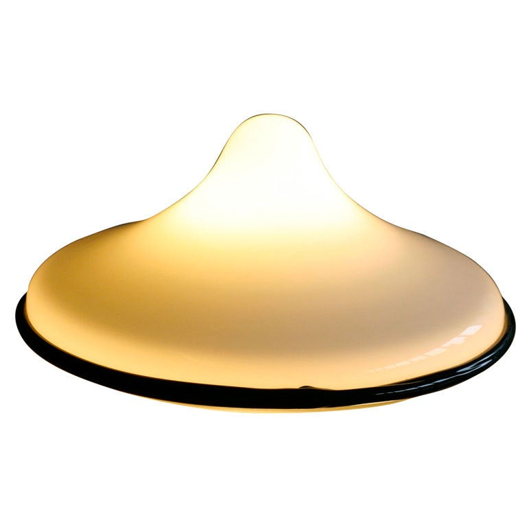 Glass Table Lamp Designed by Ettore Sottsass for Vistosi