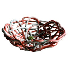 Very Large Soft Resin Basket by Gaetano Pesce, First Edition, Numbered