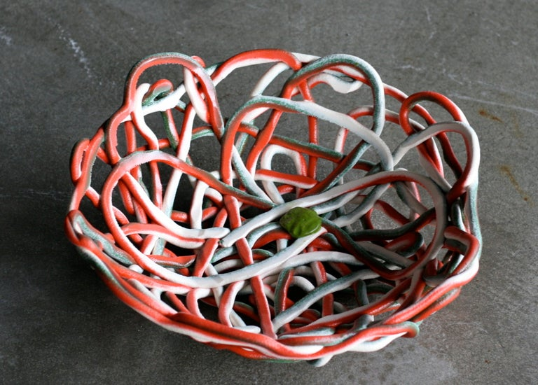 Very Large Soft Resin Basket by Gaetano Pesce, First Edition, Numbered 3