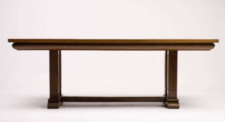 Dutch 1920s Architectural Oak Dining Table For Sale At 1stdibs