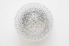 Circular Textured Glass Flush Mounts ,Wall lights by RZB Leuchten,Germany,1960's