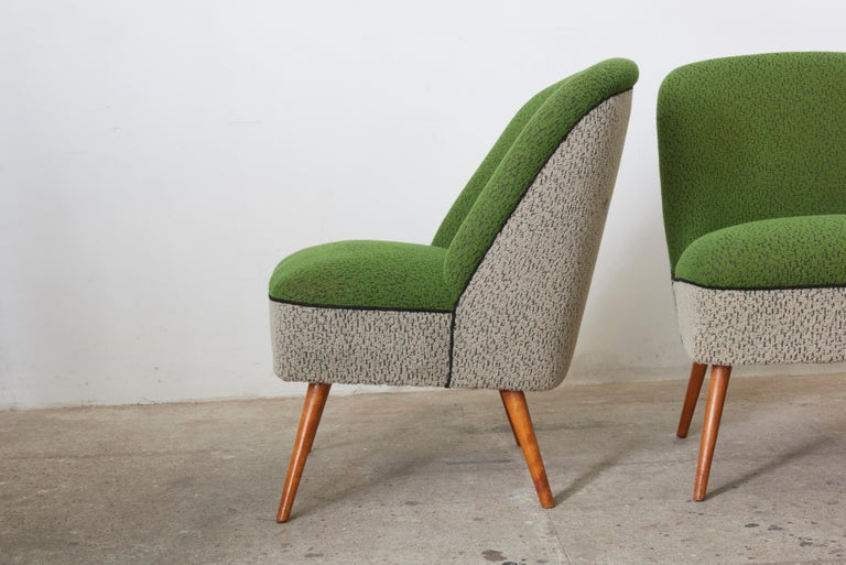 Mid-Century Modern Sitting Group of Green and Gray 1950s Coctail Lounge Chairs,Switzerland For Sale