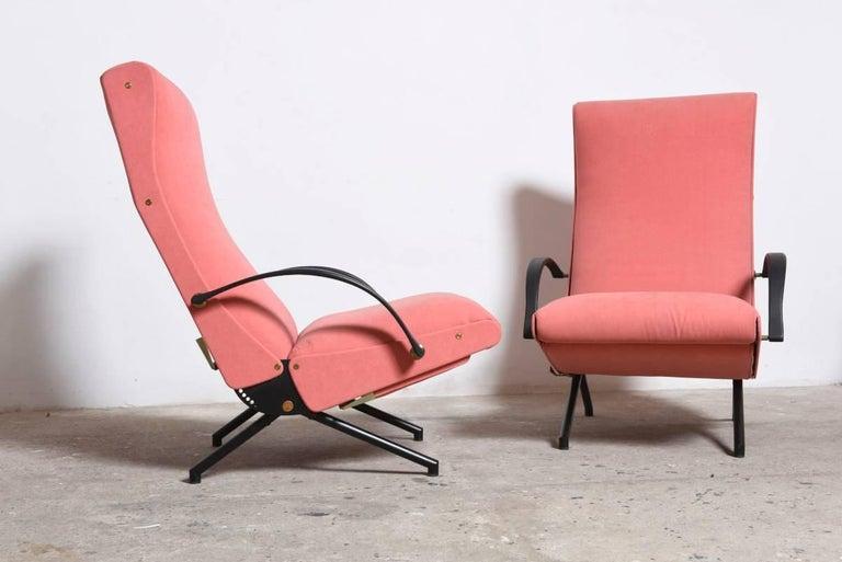 Mid-Century Modern Pink fabric Osvaldo Borsani, P40 Lounge Chair for Tecno, Italy For Sale
