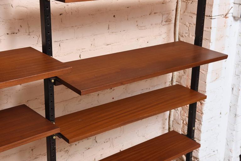 Scandinavian Modern Danisch Modular Bookcase Royal System Wall Unit For Sale