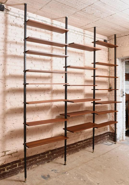 Metal Danisch Modular Bookcase Royal System Wall Unit For Sale