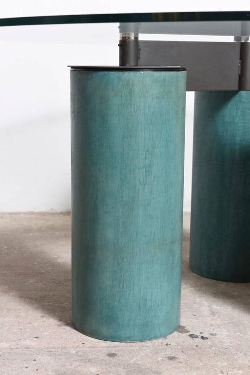 Italian Lella and Massimo Vignelli Glass Top Table Model Serenissimo 160 for Acerbis