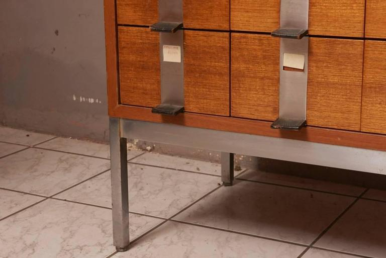 Hand-Crafted Massive Oak Cabinet with Drawers Designed by Kunstwerkstede de Coene For Sale