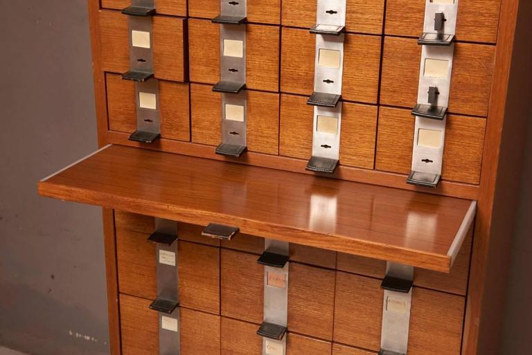 Mid-Century Modern Massive Oak Cabinet with Drawers Designed by Kunstwerkstede de Coene For Sale
