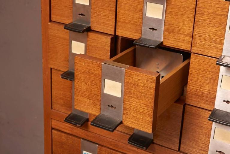 Belgian Massive Oak Cabinet with Drawers Designed by Kunstwerkstede de Coene For Sale