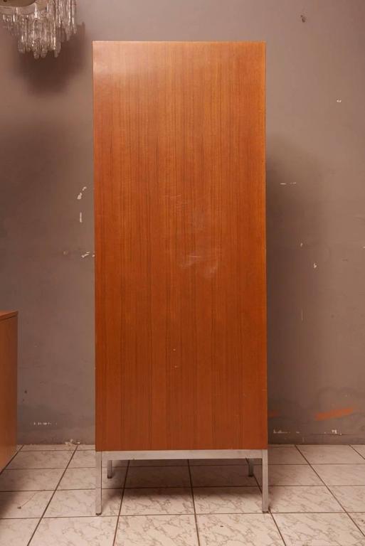 Leather Massive Oak Cabinet with Drawers Designed by Kunstwerkstede de Coene For Sale