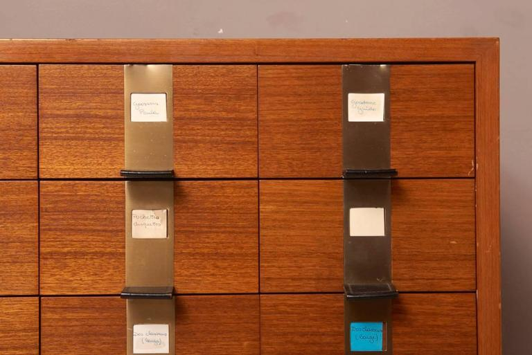 Cabinet with 45 Drawers Designed by Philippe Neerman for De Coene, Belgium In Good Condition For Sale In Antwerp, BE