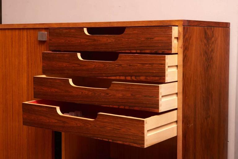 Mid-Century Modern Rosewood High Sideboard Designed by Alfred Hendrickx by Belform, 1968 For Sale