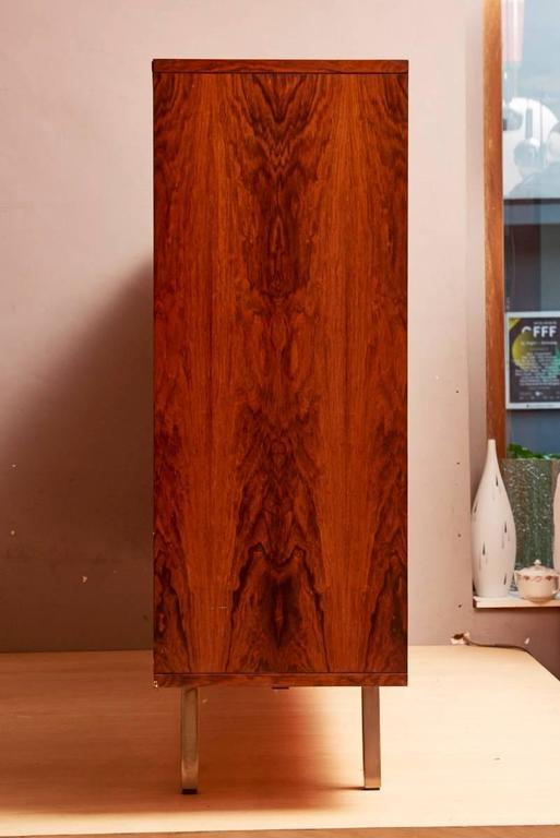 Mid-20th Century Rosewood High Sideboard Designed by Alfred Hendrickx by Belform, 1968 For Sale