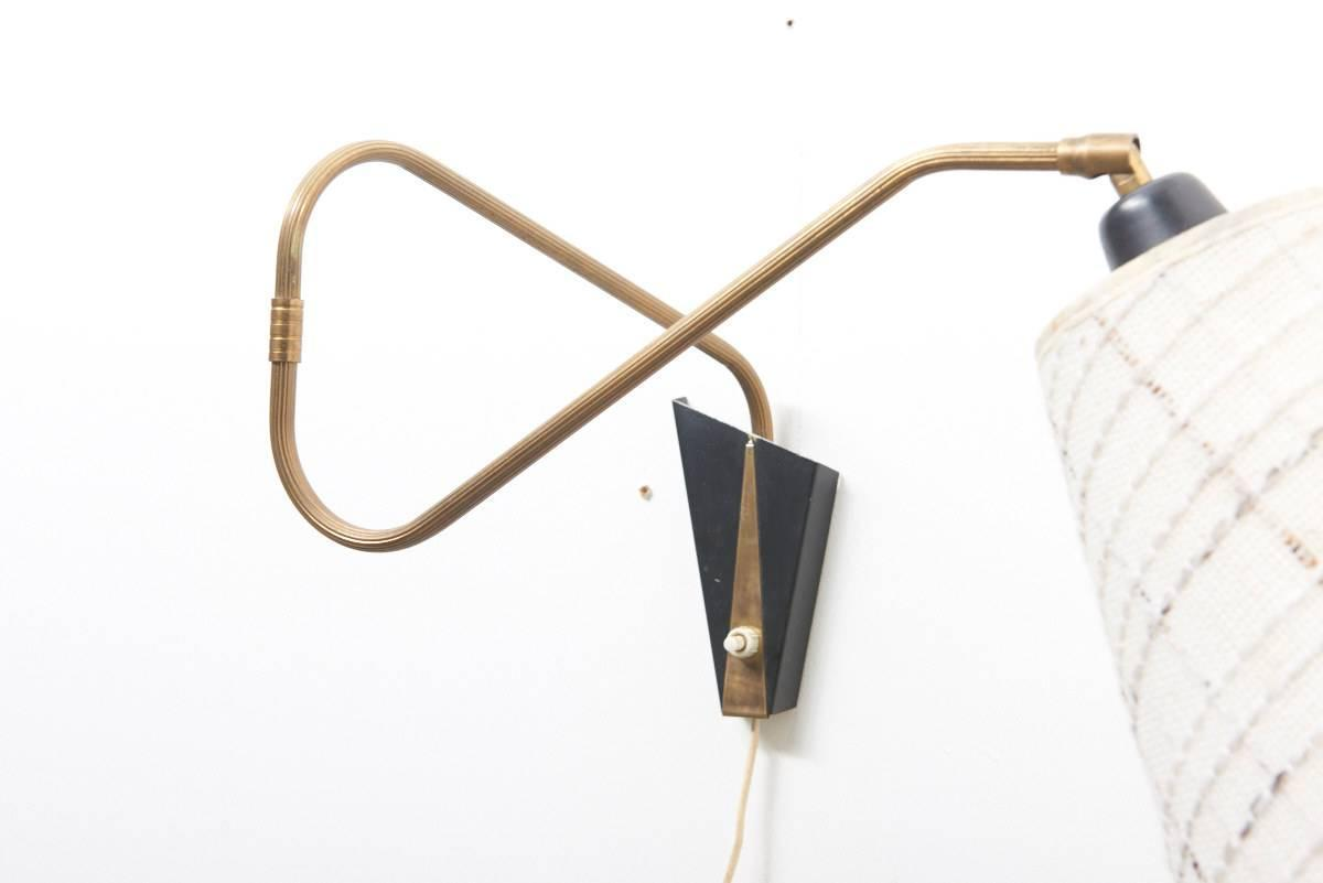Wall Sconce Reading Lamp : Adjustable Wall Sconce or Reading Lamp, 1950s at 1stdibs