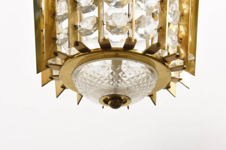 Mid-Century Modern Bakalowits Crystal Pendant Lantern For Sale