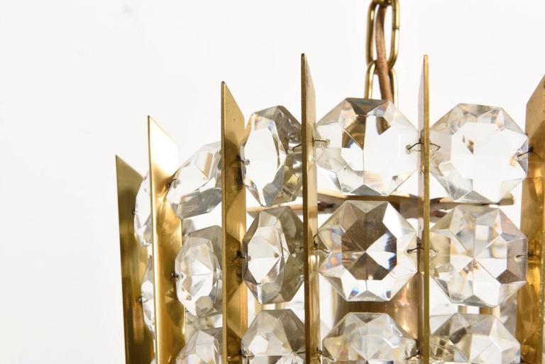 Austrian Bakalowits Crystal Pendant Lantern For Sale