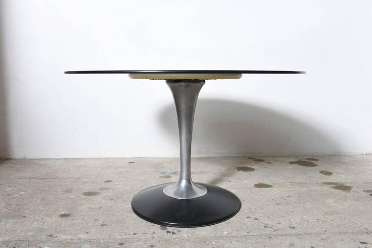 1970s chrome tulip and glass round dining table  italy at large round dining table glass dining table set round glass