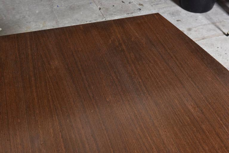 Large Wenge Conference-Dining Table, 1960s, Knoll International For Sale 2
