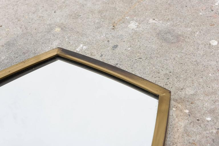 Brass Wall Mirror 1950s Scandinavian 3