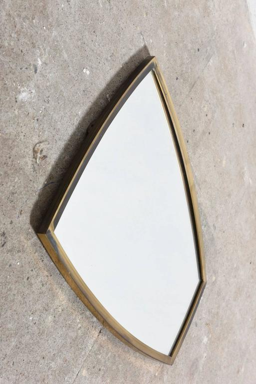 Brass Wall Mirror 1950s Scandinavian 4