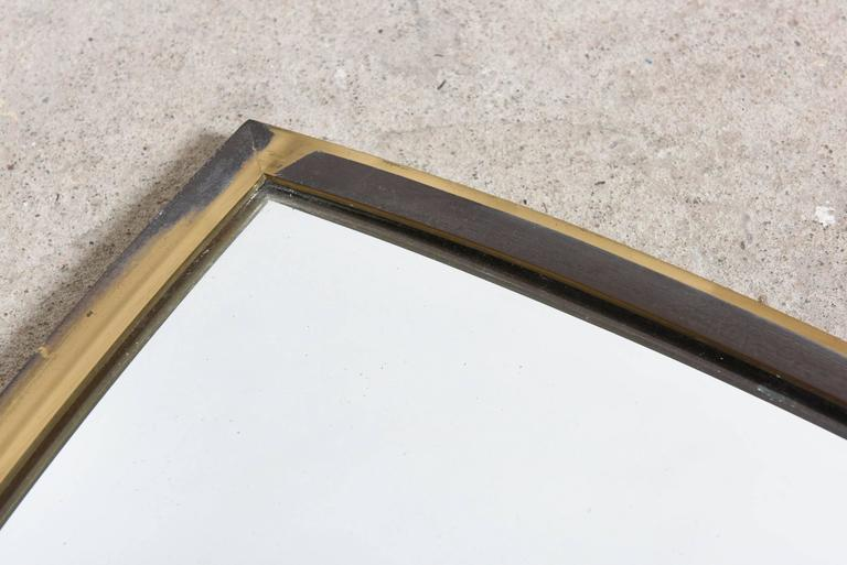 Brass Wall Mirror 1950s Scandinavian 5