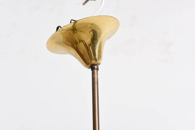 Large Stilnovo Style Brass Sputnik Chandelier, 1950s, Modernist Design For Sale 2