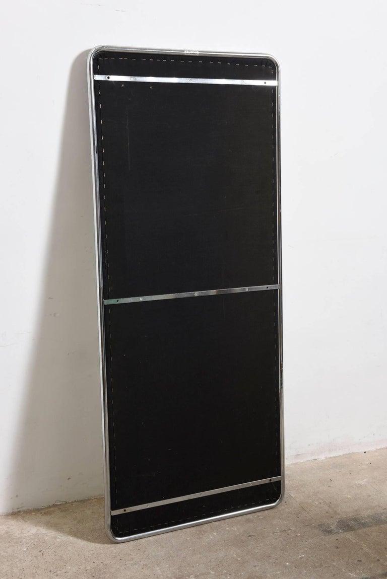 Large chrome framed floor wall mirror italy 1960s for for Mirror framed floor mirror