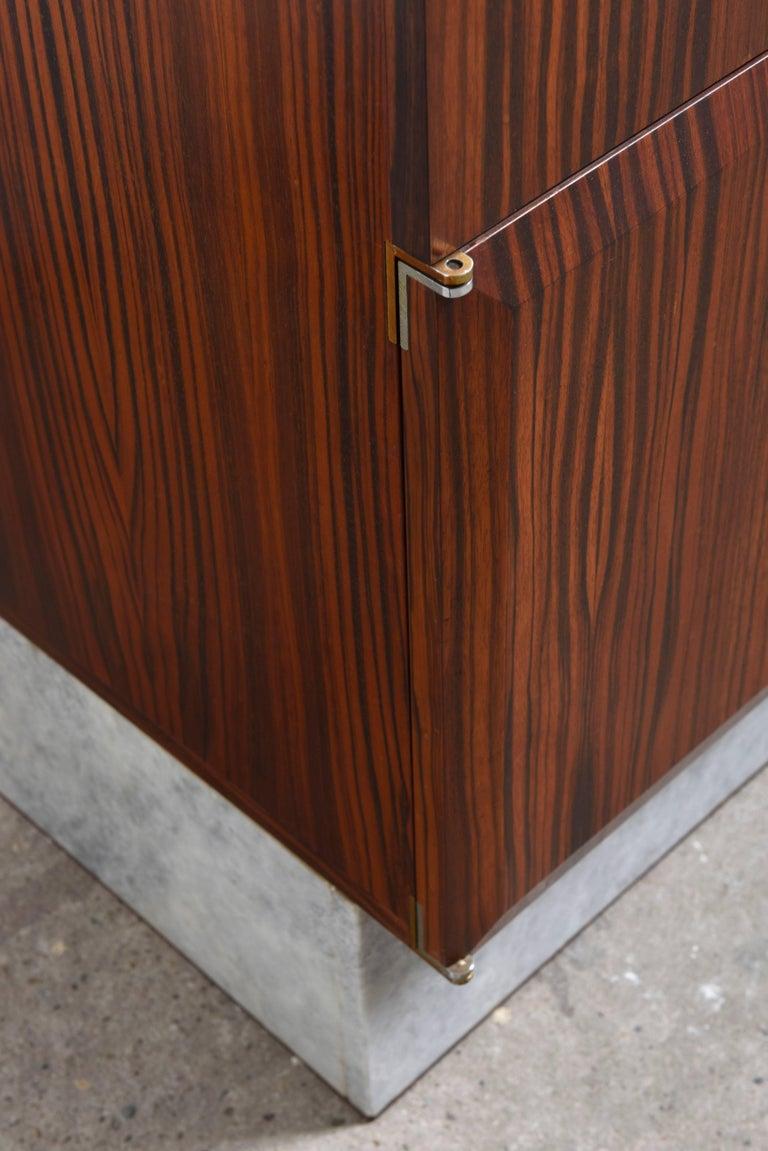 Belgian Handcrafted 1960s Brutalist Bar-Sideboard by De Coene Belgium For Sale