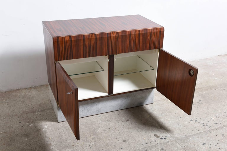 Hand-Crafted Handcrafted 1960s Brutalist Bar-Sideboard by De Coene Belgium For Sale