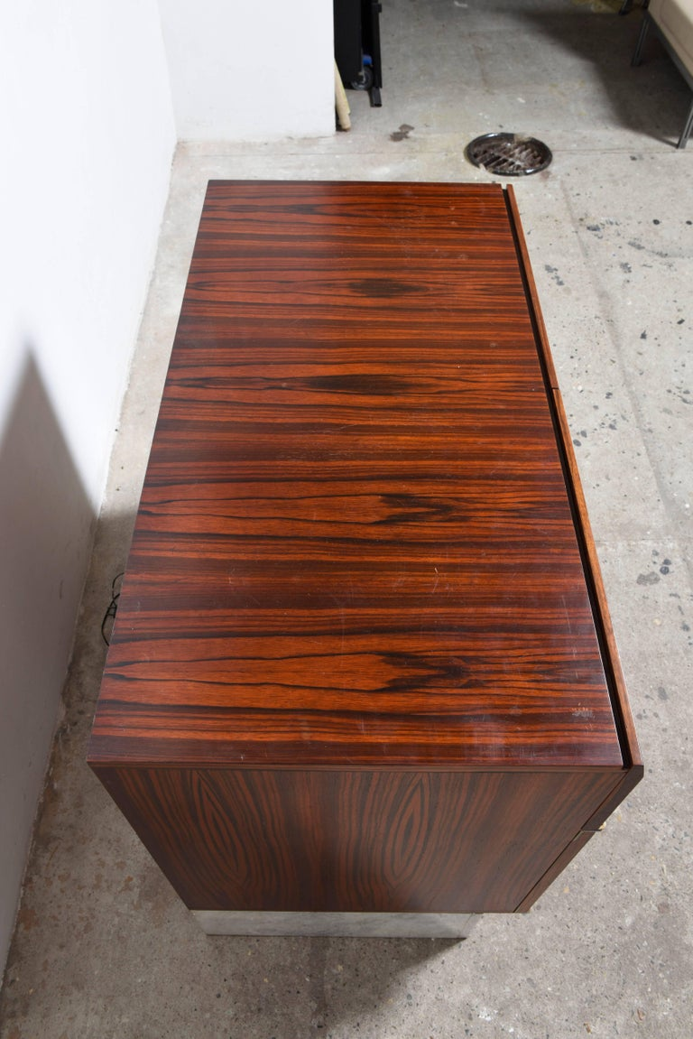 Mid-20th Century Handcrafted 1960s Brutalist Bar-Sideboard by De Coene Belgium For Sale