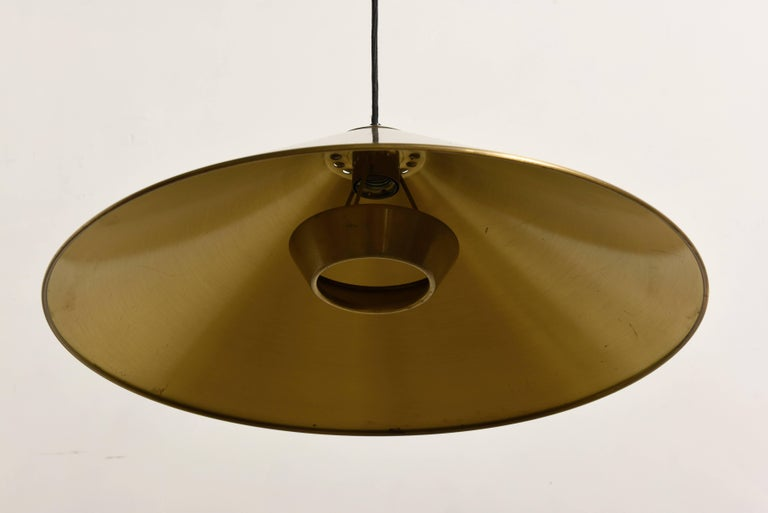 Mid-Century Modern Keos Counter Balance Brass Pendant by Florian Schulz, Germany For Sale