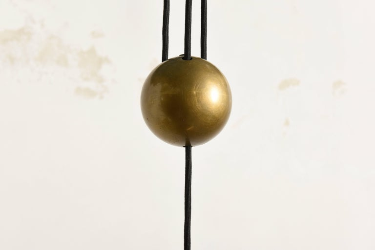 Keos Counter Balance Brass Pendant by Florian Schulz, Germany For Sale 1