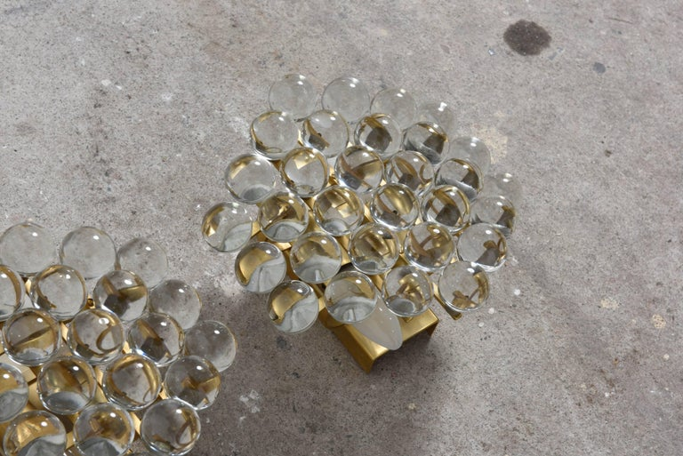 Mid-Century Modern Pair of Murano Glass Balls Sconces Designed by Christoph Palme, Germany For Sale