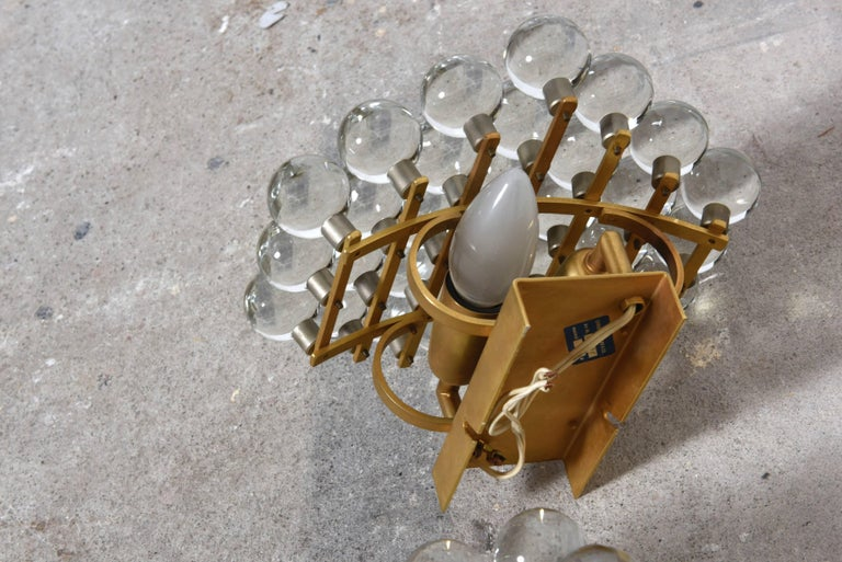 Pair of Murano Glass Balls Sconces Designed by Christoph Palme, Germany In Excellent Condition For Sale In Antwerp, BE