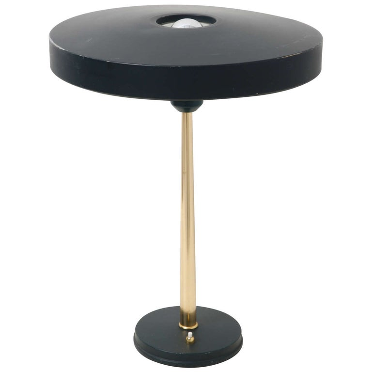 Timor 69 Dutch Design Black Desk Lamp by Louis Kalff for Philips
