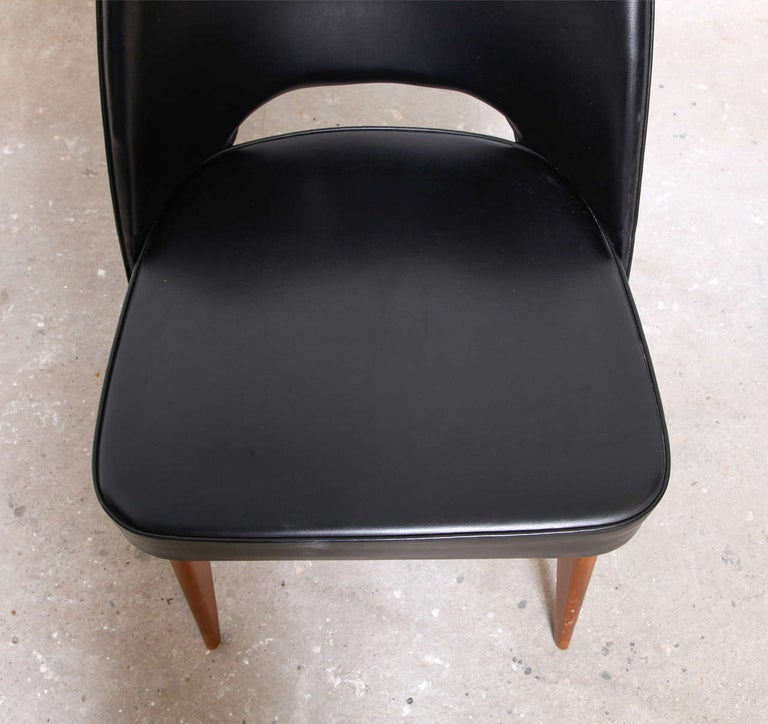 Mid-20th Century Set of Four Thonet 1950s Dining Chairs For Sale