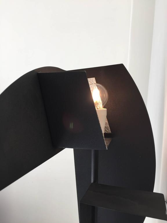 Metal Sculpture Wall Lights : 1970s Metal Floor / Wall Lamp Sculpture at 1stdibs