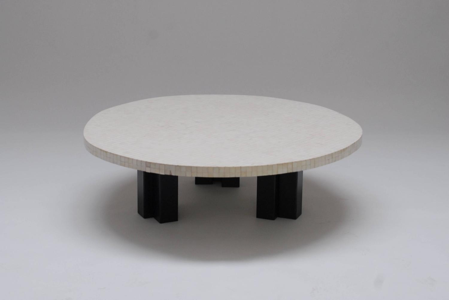 large 1970s bone coffee table by etienne allemeersch at 1stdibs. Black Bedroom Furniture Sets. Home Design Ideas