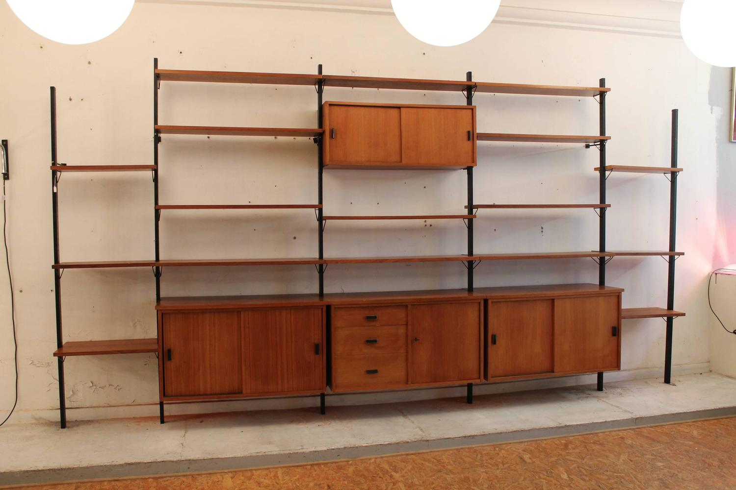 Mid Century Modern Wall Unit Shelving System Pira Sweden