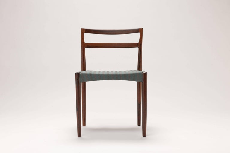 Scandinavian Modern Danish Rosewood Dining Chairs by Harry Ostergaard For Sale