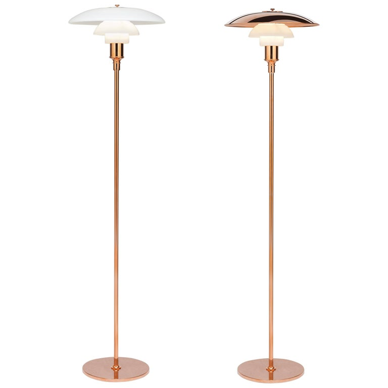 Poul Henningsen Limited Edition PH 3½-2½ Copper and Glass Floor Lamp