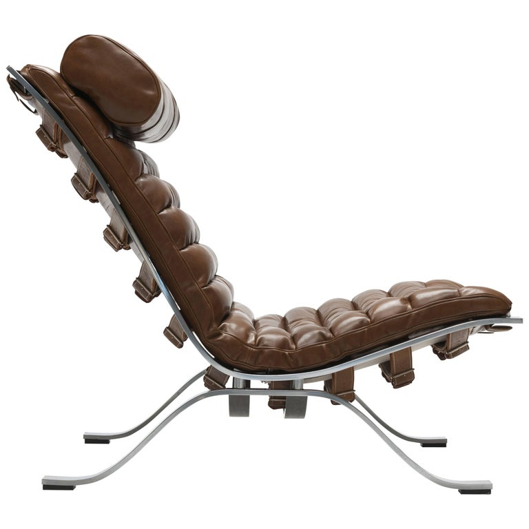 Bronze Leather Arne Norell ARI Lounge Chair